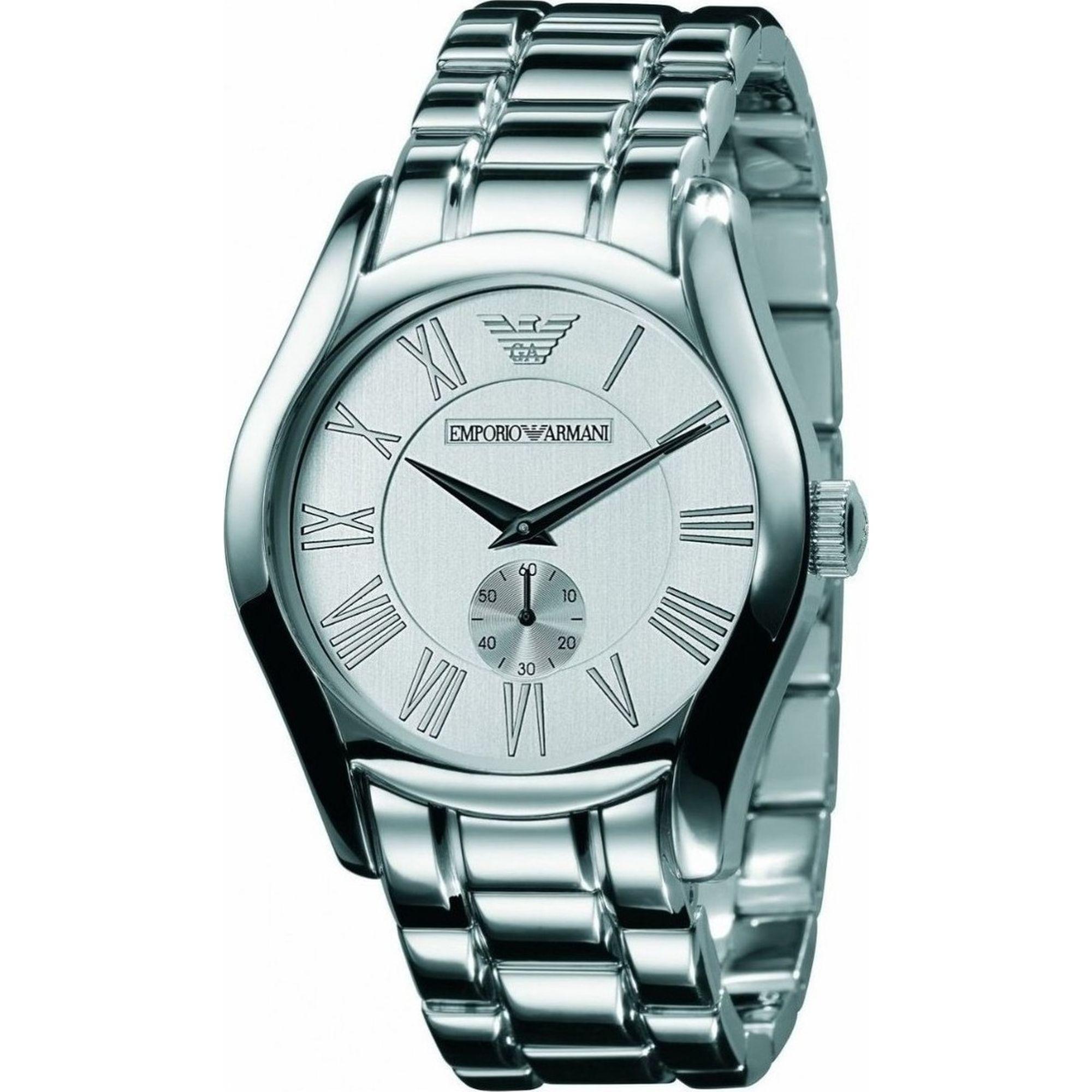 Emporio Armani με Ασημί Καντράν και Μπρασελέ AR0647, ρολόι, ρολόγια, Emporio Armani, Ανδρικό ρολόι, Δωρεάν μεταφορικά