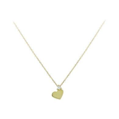 Κολιέ Κίτρινο Κ9 σε Σχήμα Καρδιάς