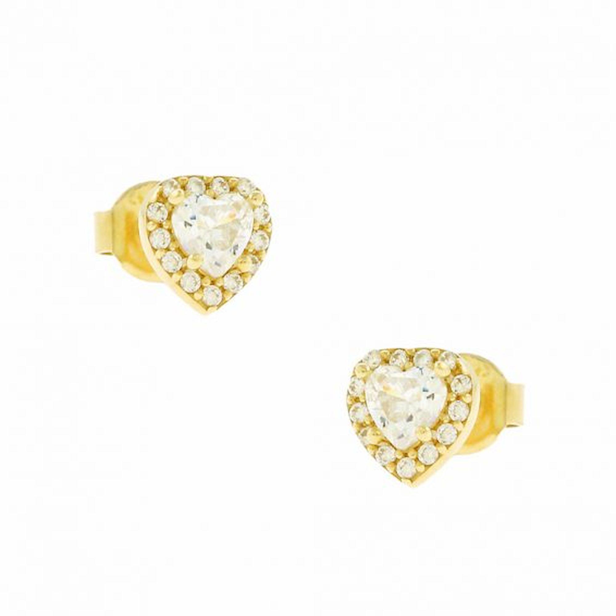 Σκουλαρίκια με Πέτρές Ζιργκόν σε σχήμα Καρδιάς
