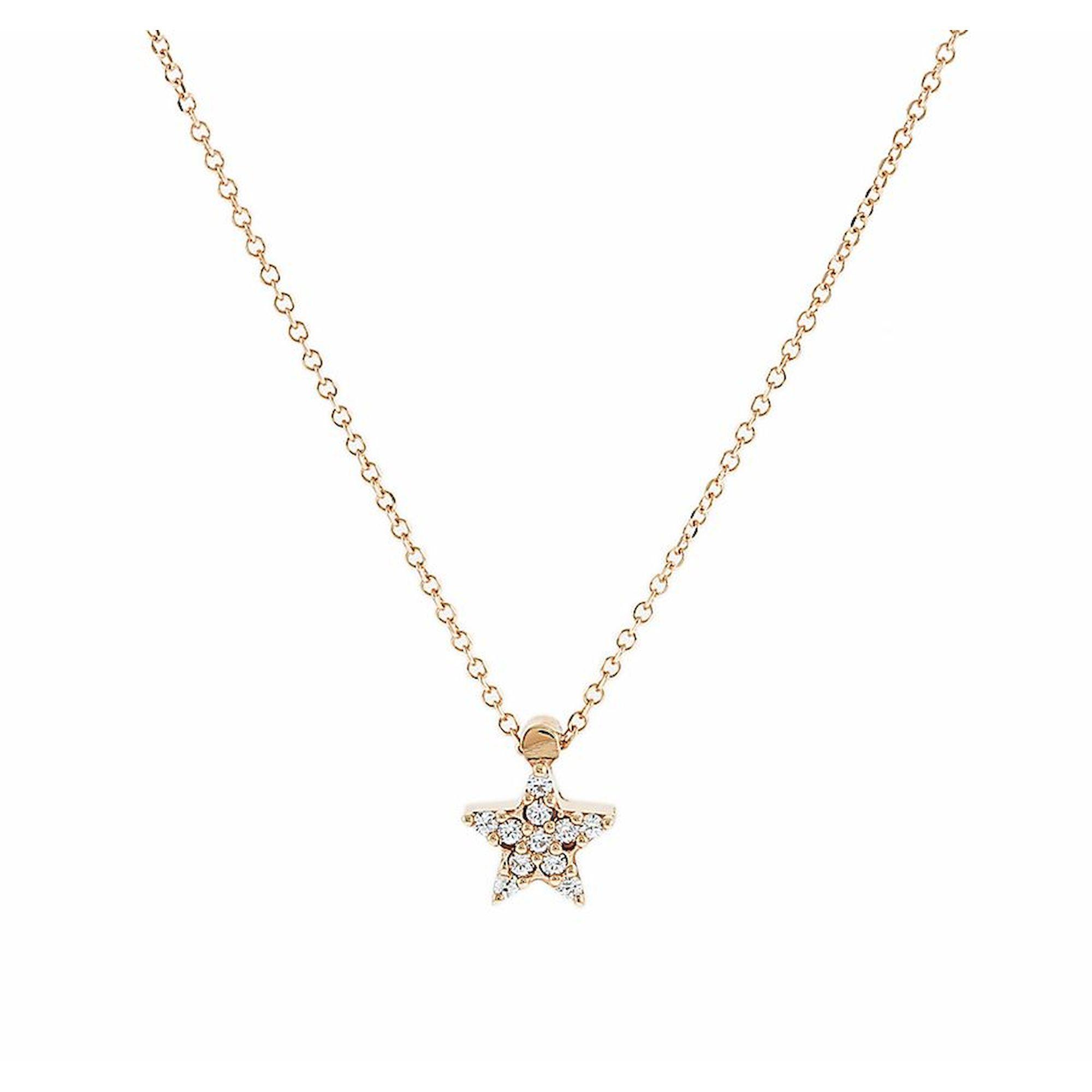 Κολιέ Ροζ με Αστέρι 9 Καράτια