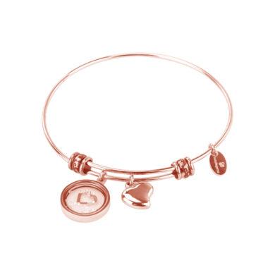 Βραχιόλι Natalie Gersa TWO HEARTS Ροζ Χρυσό