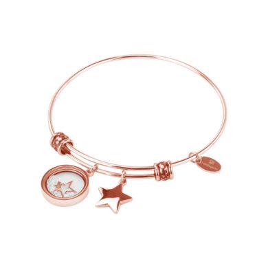 Βραχιόλι Natalie Gersa STARS Ροζ Gold