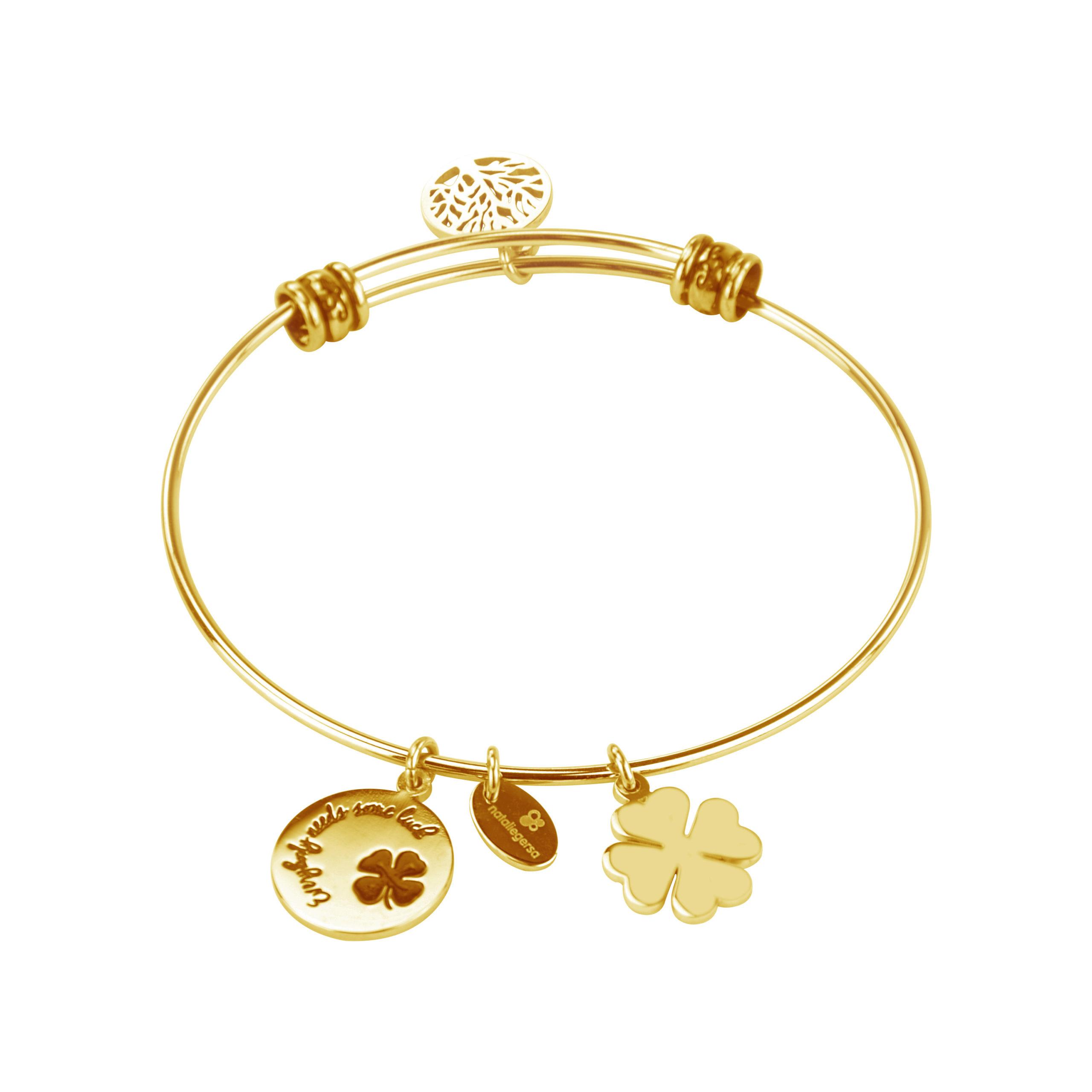 Βραχιόλι Natalie Gersa - EVERYBODY NEEDS SOME LUCK Χρυσό