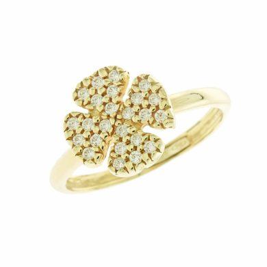Δαχτυλίδι σε σχήμα τριφυλλιού 052055