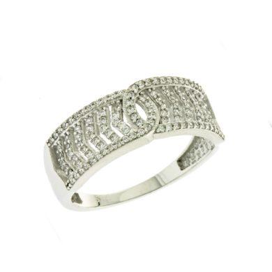 Δαχτυλίδι πετράτο με λευκές πέτρες 072677