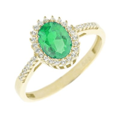 Δαχτυλίδι με Πράσινη Πέτρα Ζιργκόν 112852 ροζέτα χρυσό δαχτυλίδι daxtilidi kosmima monopetro doro δώρο γυναικείο πέτρες gift for women ring jewellery gold swarovski oxette marriage