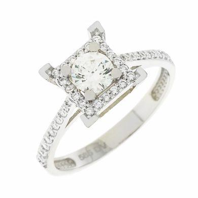 Δαχτυλίδι Σειρέ με Λευκές Πέτρες