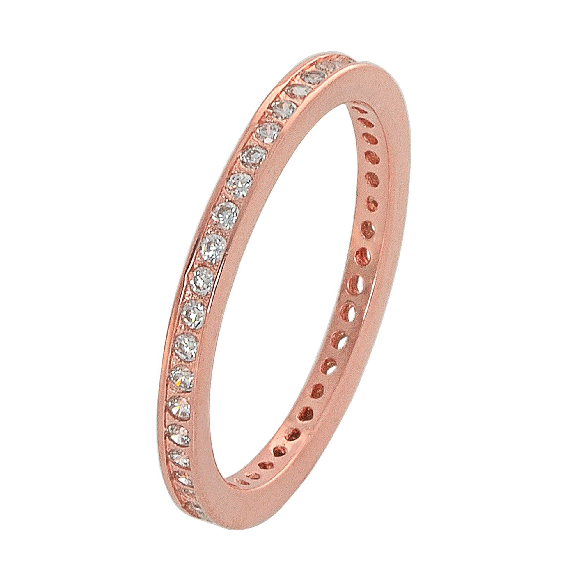 Ασημένιο Δαχτυλίδι Σειρέ με Πέτρες Ζιργκόν / Ροζ