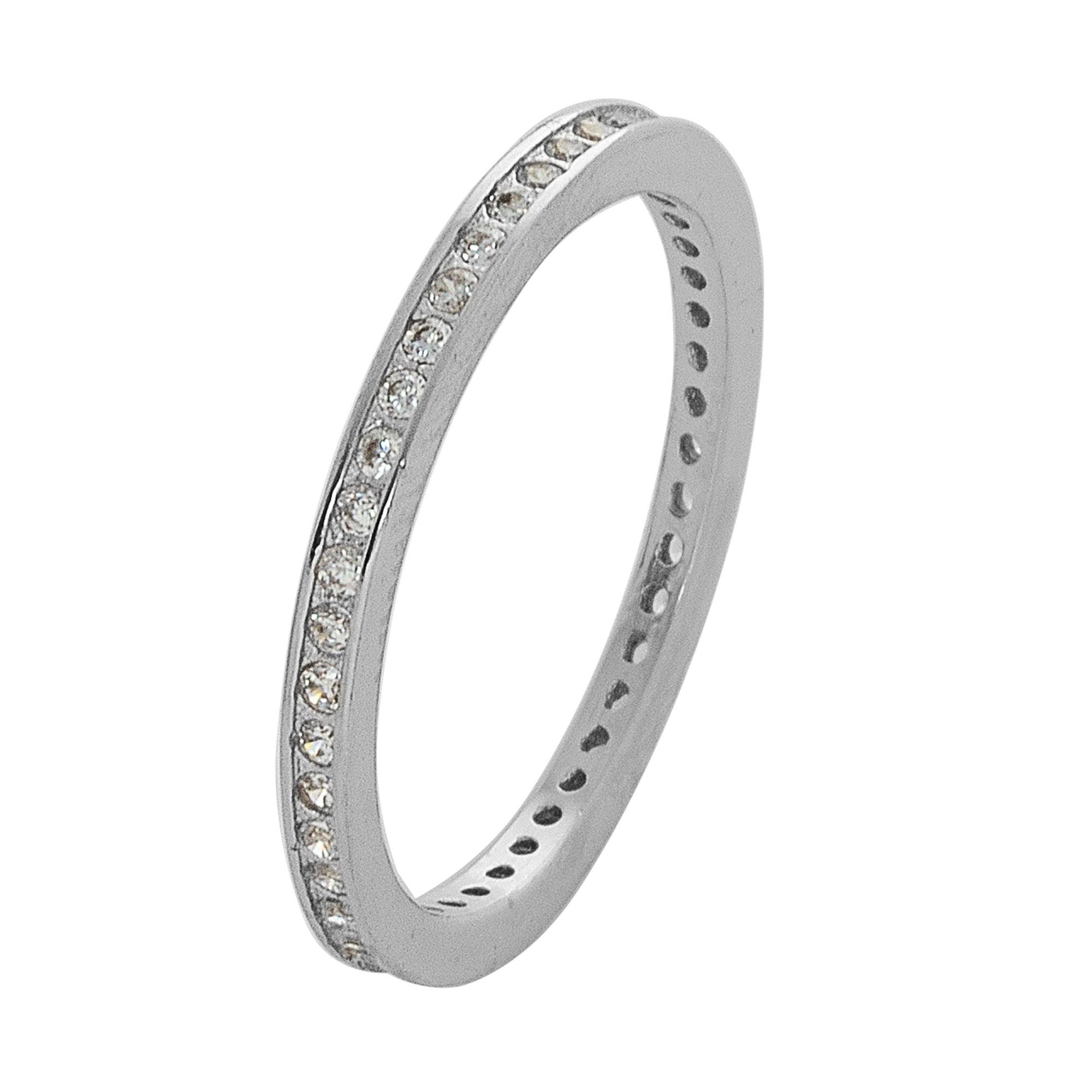 Ασημένιο Δαχτυλίδι Σειρέ με Πέτρες Ζιργκόν / Λεύκό