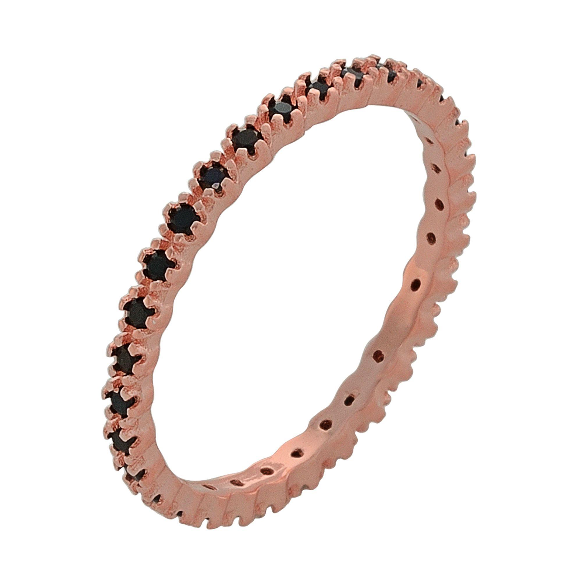 Ασημένιο Δαχτυλίδι Σειρέ με Μαύρες Πέτρες Ζιργκόν