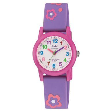 Q&Q παιδικό ρολόι με λουλούδια VR99J001Y