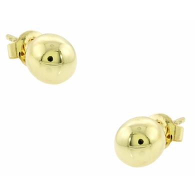 Σκουλαρίκια σε Σχήμα Μπίλιας / Κίτρινα