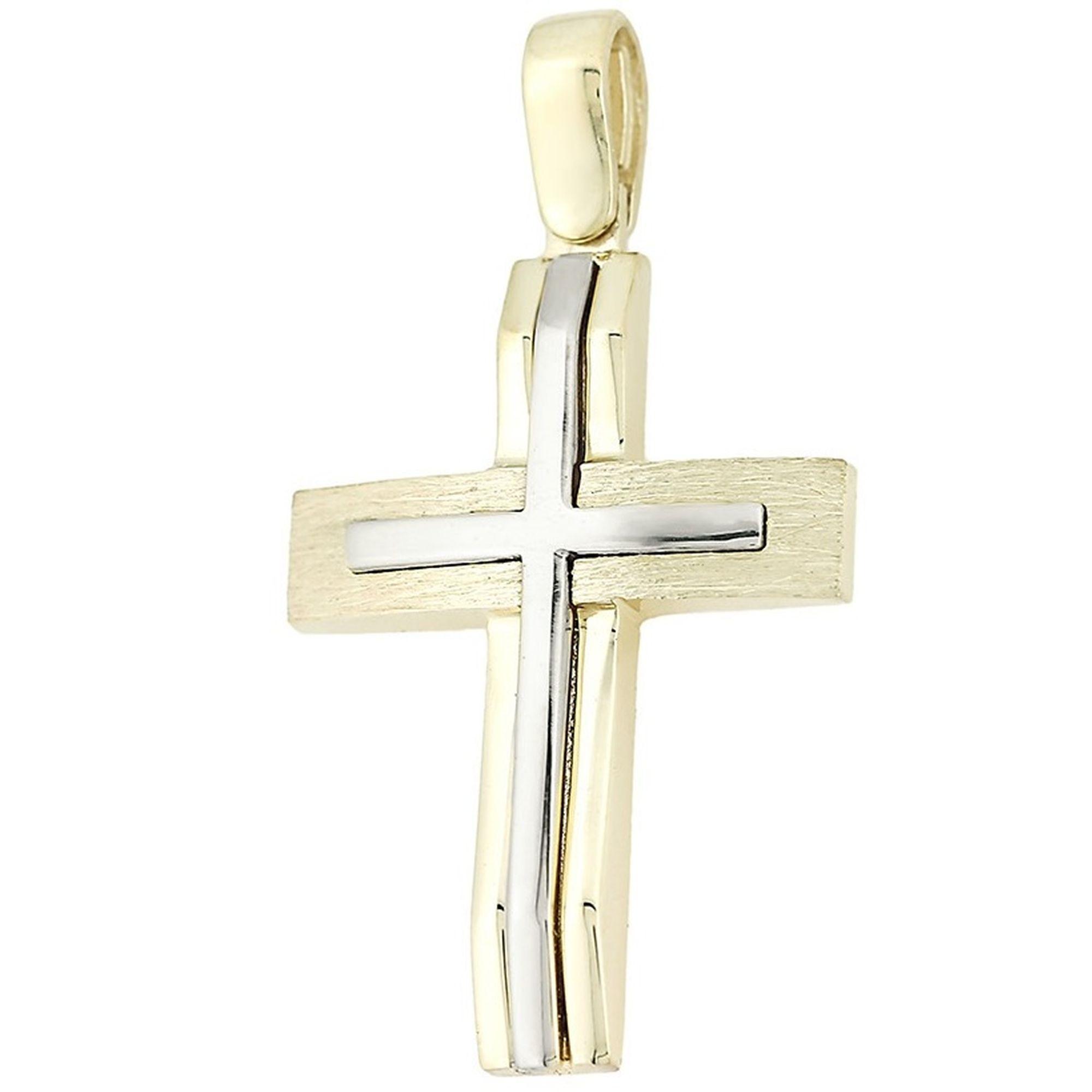 σταυρός, σταυρός για βάπτιση, Γυναικείος σταυρόςμε πέτρες, Δωρεάν μεταφορικά, Σταυρός 14 καρατίων