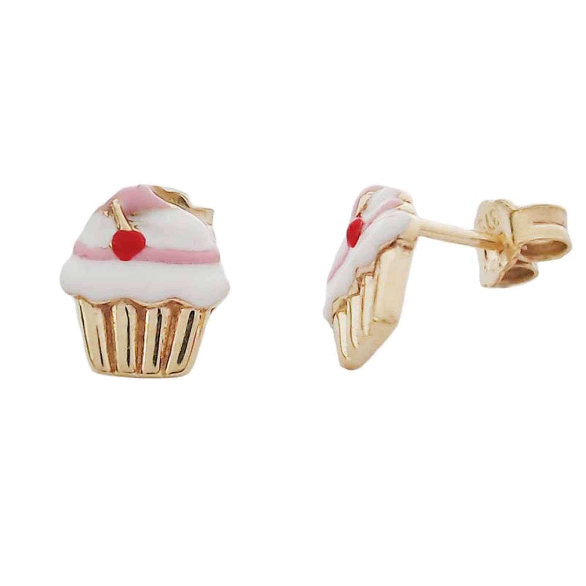 Παιδικά Σκουλαρίκια, Χρυσά παιδικά σκουλαρίκια, ΔΩρεάν μεταφορικά, σκουλαρίκια με σμάλτο,, παιδικό κόσμημα