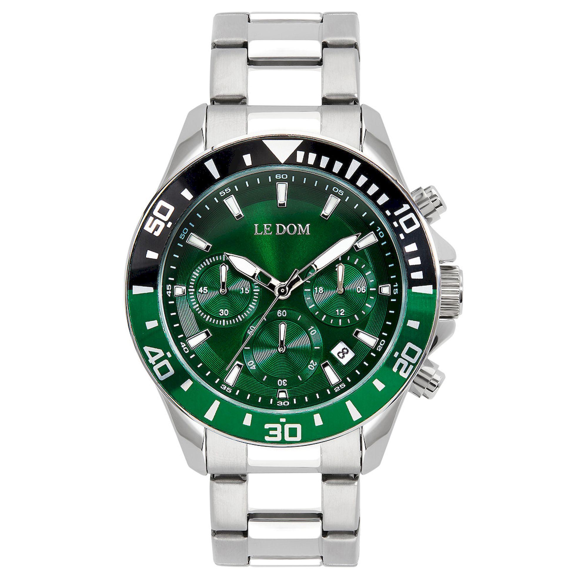Le Dom Eternal με Πράσινο Καντράν ld1481-3, le dom, ανδρικό ρολόι, ρολόγια, Δωρεάν έξοδα αποστολής, Άμεση ΔΙαθεσιμότητα, Le Dom Ρολόγια