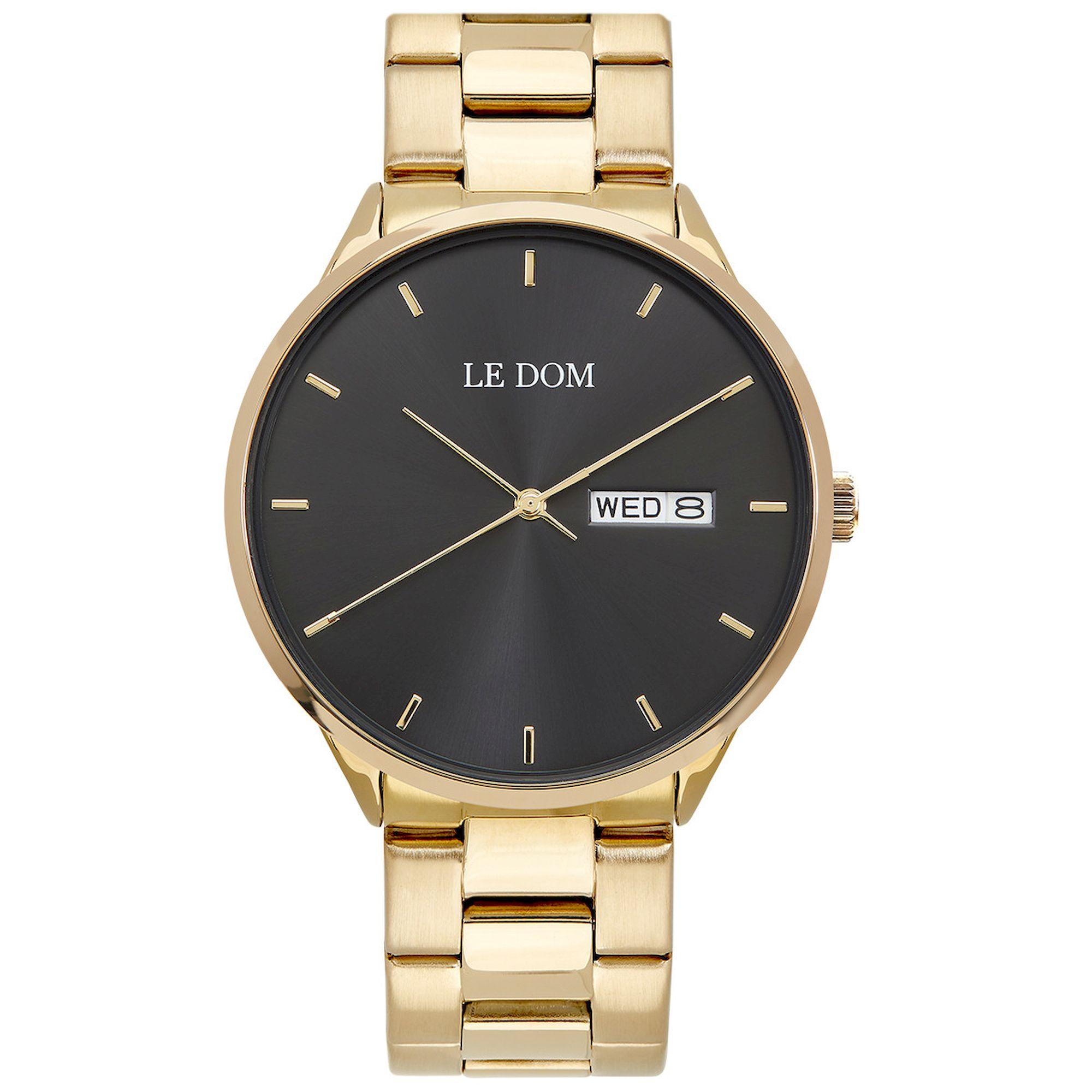 Le Dom Maxim Gold Bracelet LD.1435-3, le dom, ανδρικό ρολόι, ρολόγια, Δωρεάν έξοδα αποστολής, Άμεση ΔΙαθεσιμότητα, Le Dom Ρολόγια