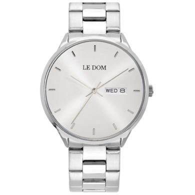 LE DOM Maxim Silver Bracelet LD.1435-6, le dom, ανδρικό ρολόι, ρολόγια, Δωρεάν έξοδα αποστολής, Άμεση ΔΙαθεσιμότητα, Le Dom Ρολόγια