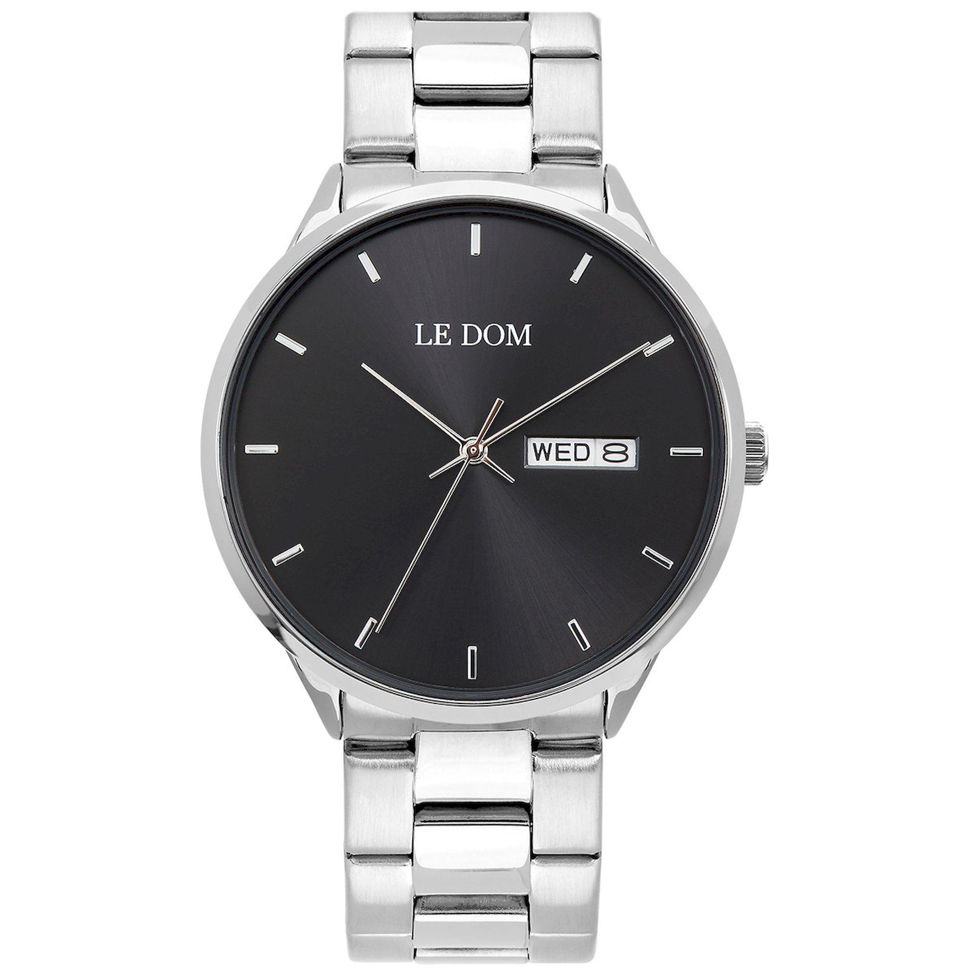 LE DOM Maxim Μαύρο Καντράν LD.1435-7, le dom, ανδρικό ρολόι, ρολόγια, Δωρεάν έξοδα αποστολής, Άμεση ΔΙαθεσιμότητα, Le Dom Ρολόγια