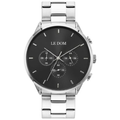 LE DOM Principal Ασημί Μπρασελέ LD.1436-1, le dom, ανδρικό ρολόι, ρολόγια, Δωρεάν έξοδα αποστολής, Άμεση ΔΙαθεσιμότητα, Le Dom Ρολόγια