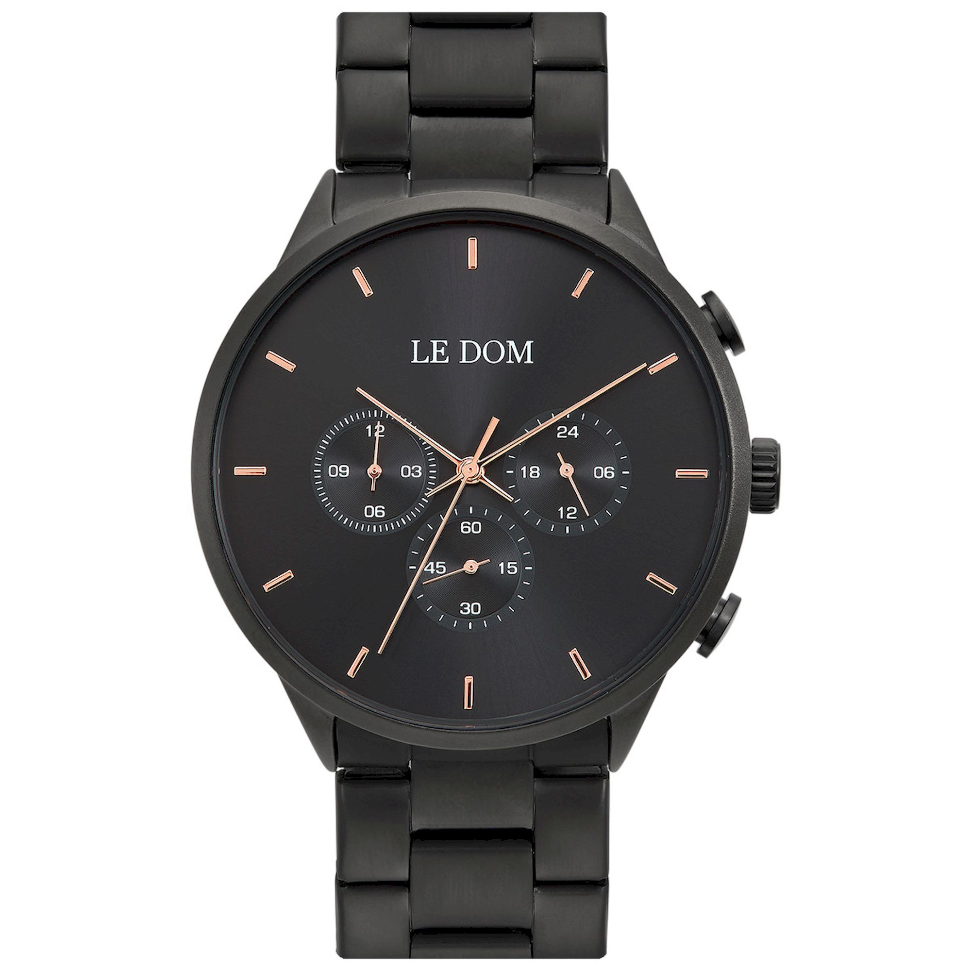 LE DOM Principal Μαύρο Καντράν LD.1436-5, le dom, ανδρικό ρολόι, ρολόγια, Δωρεάν έξοδα αποστολής, Άμεση ΔΙαθεσιμότητα, Le Dom Ρολόγια
