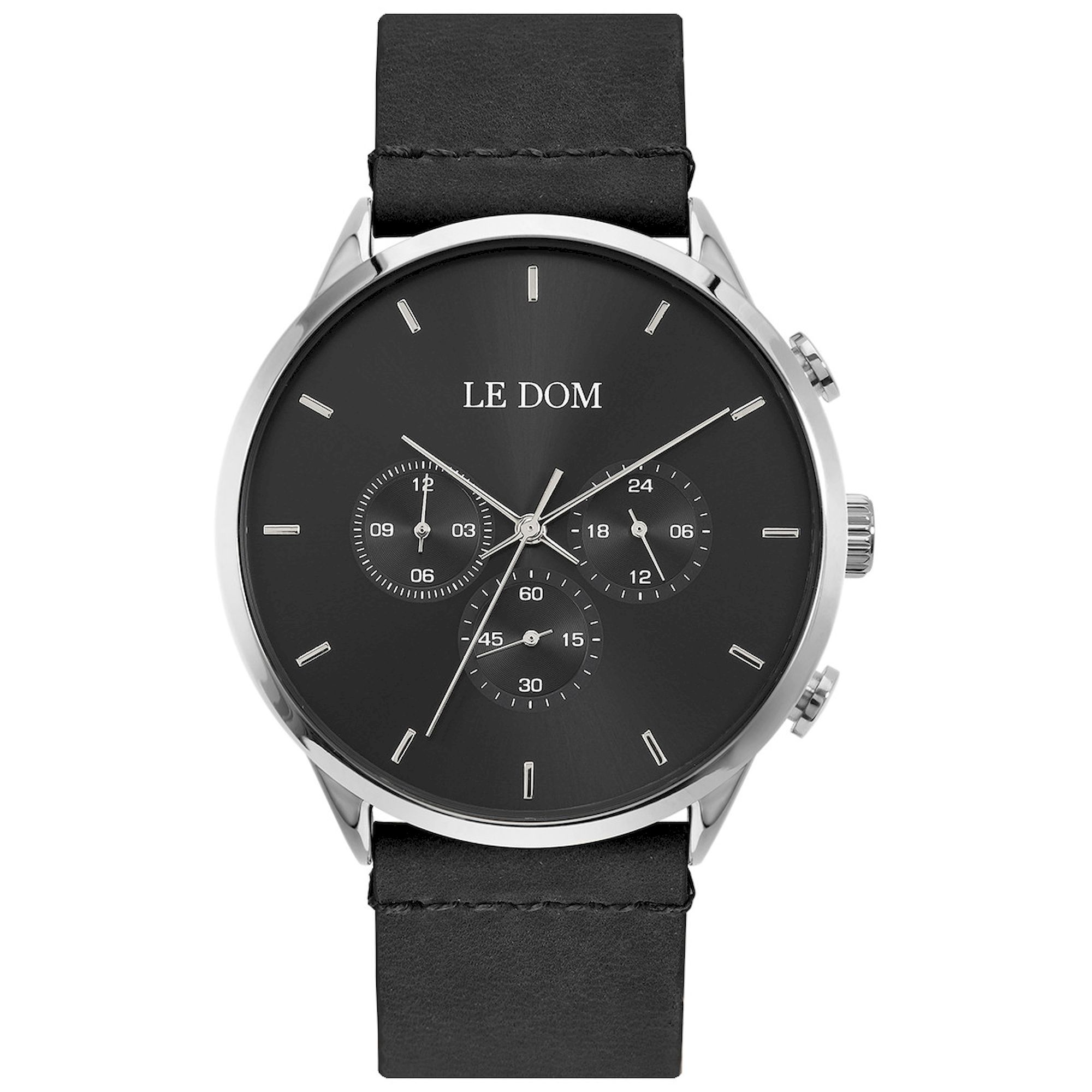 LE DOM Principal Μαύρο Λουράκι LD.1436-6, le dom, ανδρικό ρολόι, ρολόγια, Δωρεάν έξοδα αποστολής, Άμεση ΔΙαθεσιμότητα, Le Dom Ρολόγια