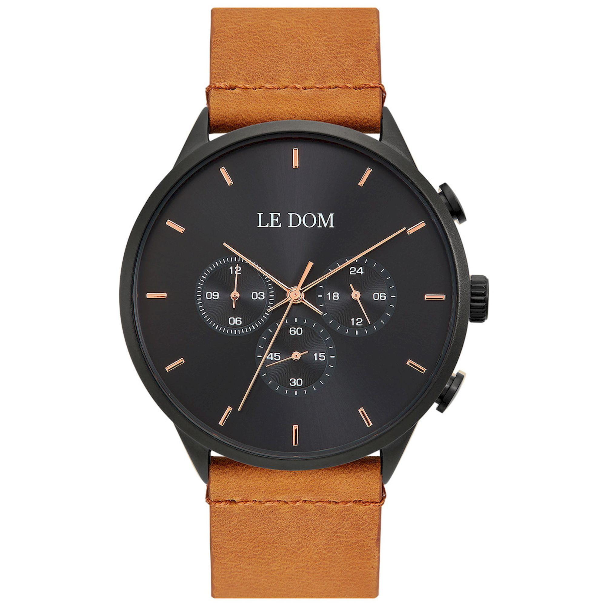 LE DOM Principal Καφέ Λουράκι LD.1436-9, le dom, ανδρικό ρολόι, ρολόγια, Δωρεάν έξοδα αποστολής, Άμεση ΔΙαθεσιμότητα, Le Dom Ρολόγια