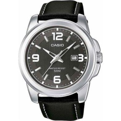 Casio Ρολόι με Μαύρο Δερμάτινο λουράκι MTP-1314L-8AV