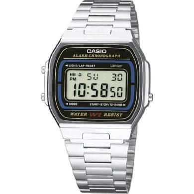Ρολόι Casio με Ασημί Μπρασελέ A164WA-1VES