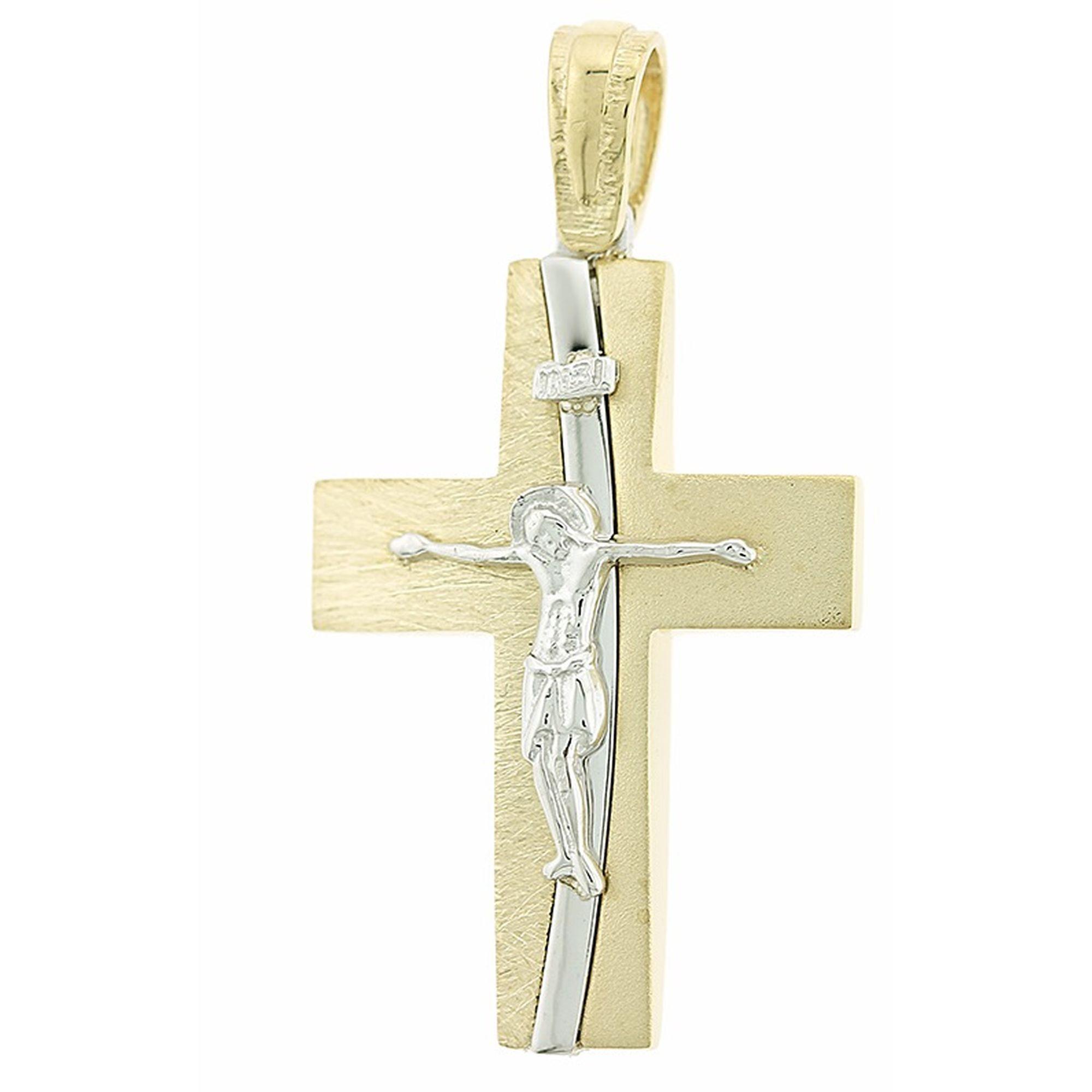 Ανδρικός Σταυρός με το Ενσταυρωμένο + Αλυσίδα