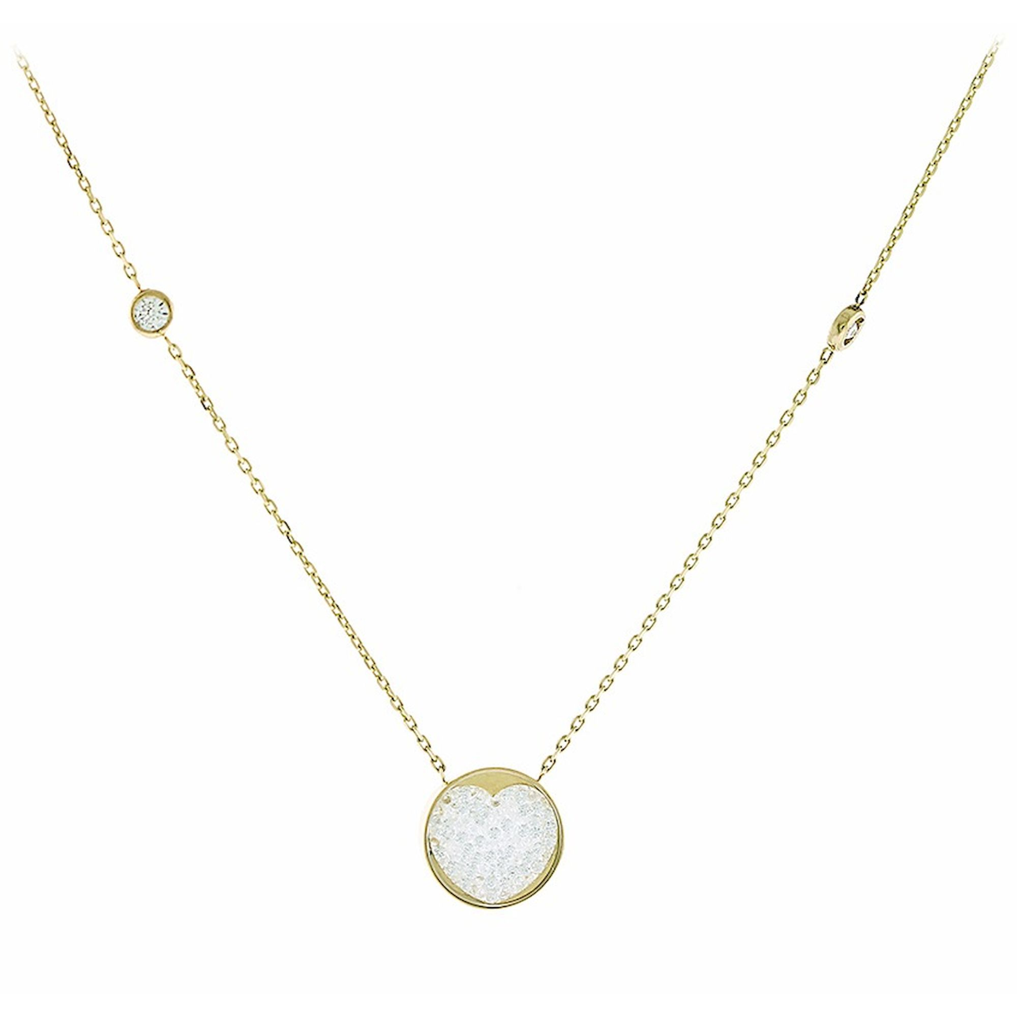 Κολιέ Καρδιά με Πέτρες Ζιργκόν 14 Καράτια, κολιέ, χρυσό κολιέ, 14 καράτια, Κρεμαστό για τον λαιμό, κόσμημα, χρυσό κόσμημα, δωρεάν μεταφορικά