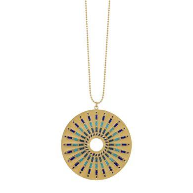 Κολιέ Visetti με Κύκλο και Πέτρες NI-WKD004GM, κολιέ, Visetti, Γυναικεία Κολιέ Visetti,Δώρο για Γυναίκα, Καλοκαιρινά Κοσμήματα, Δωρεάν μεταφορικά