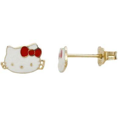 Παιδικό Σκουλαρίκι με την Hello Kitty 9 Καράτια