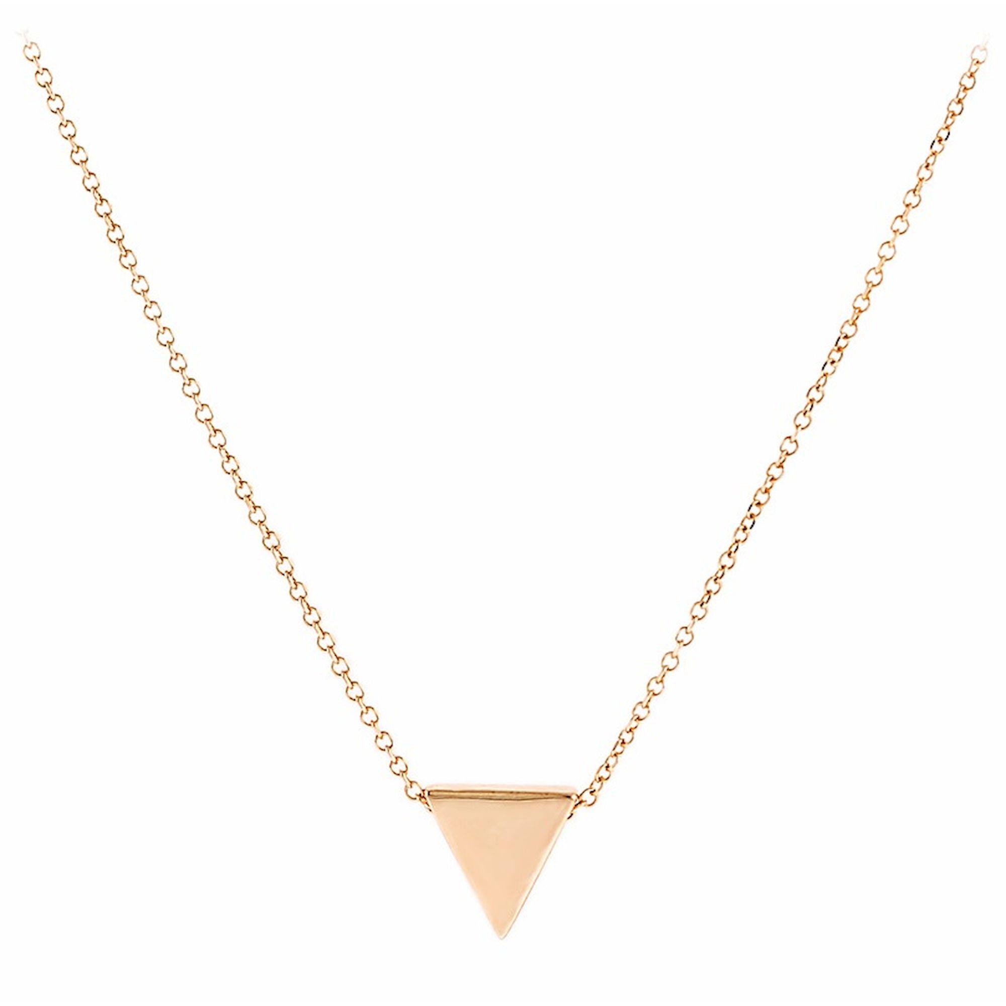 Κολιέ σε Ροζ Χρυσό με Τρίγωνο, Κολιέ 9 Καρατίων, χρυσό κόσμημα, κολιέ, κόσμημα, Δωρεάν μεταφορικά