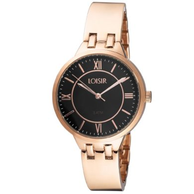 Loisir Ρολόι Super Jazz με Μαύρο Καντράν 11L05-00483, ρολόι, γυναικείο ρολόι, Loisir, Loisir ρολόι