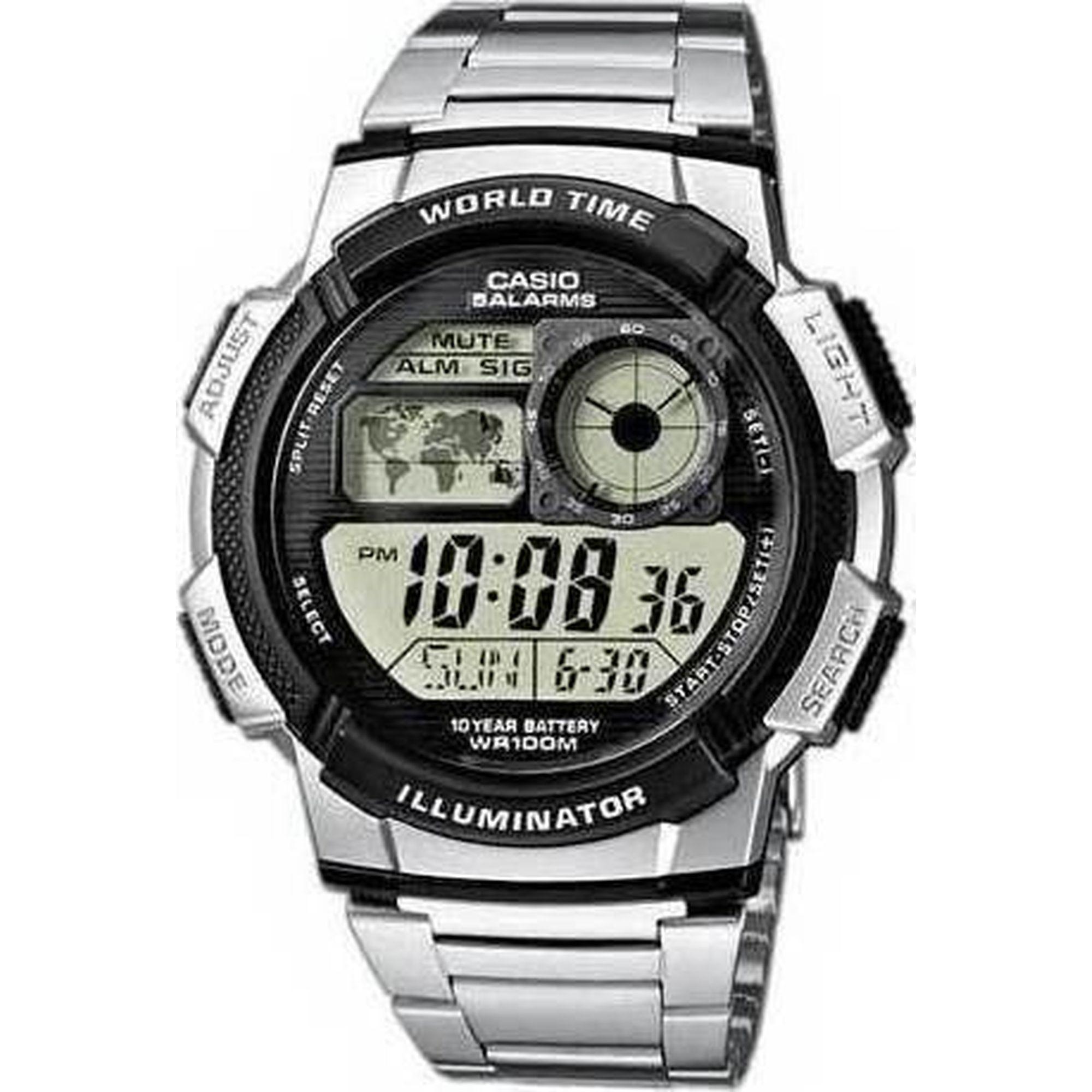 Ρολόι, Casio ρολόι, Αδιάβροχο ρολόι,Casio Ρολόι με Μπρασελέ AE-1000WD-1AVEF