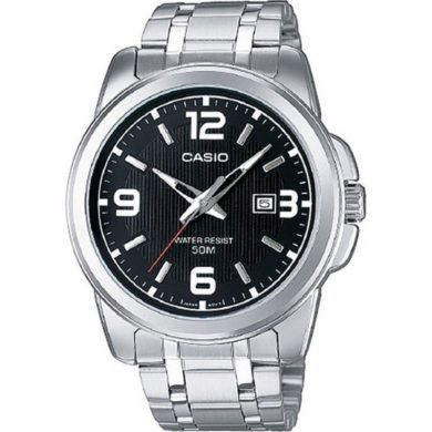 Casio Ρολόι με Μπρασελέ και Λευκό Καντράν MTP-1314PD-1A