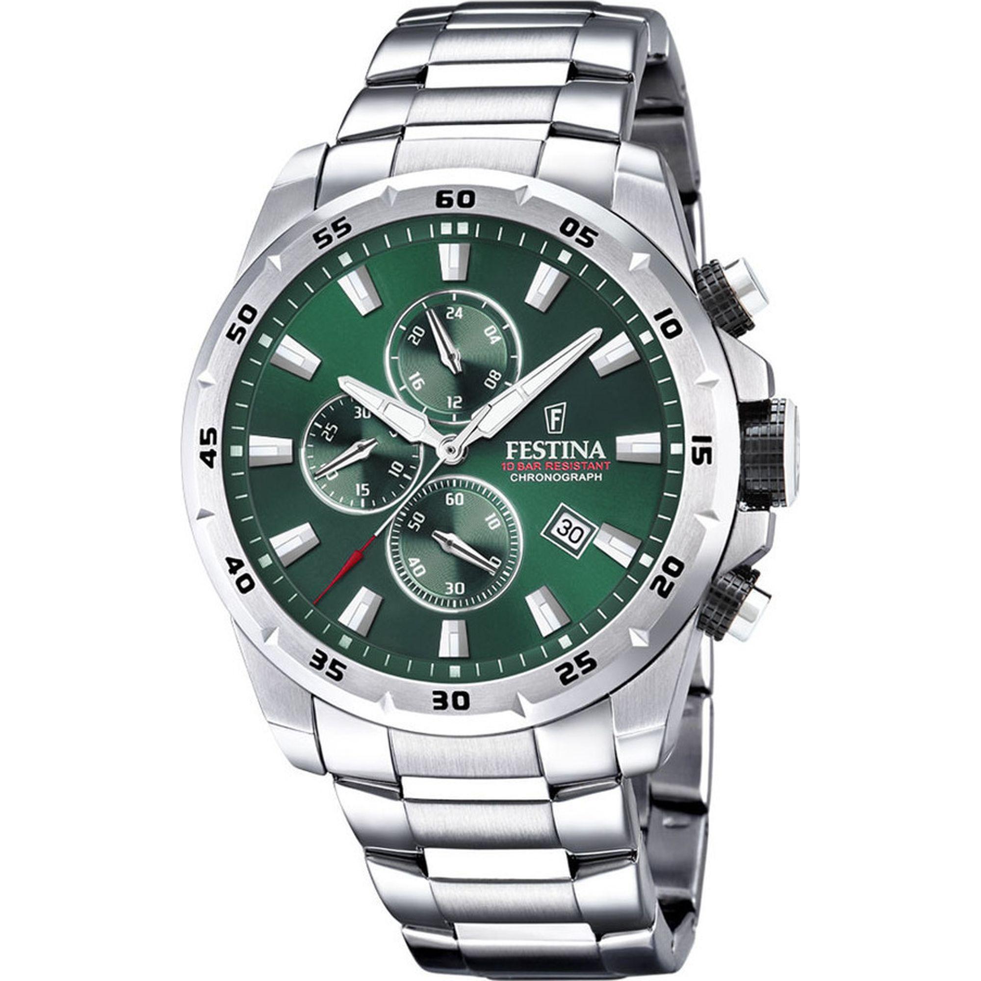 Ρολόι Festina Chrono Sport Χρονογράφος με Πράσινο Καντράν F20463/3