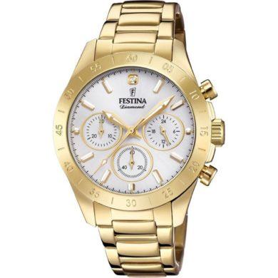 Ρολόι Festina με Χρυσό Μπρασελέ F16749/2 + Δώρο Βραχιόλι