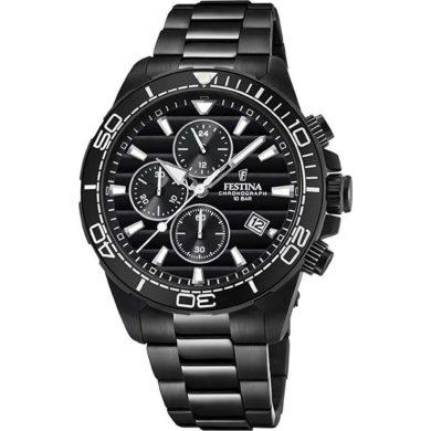 Ρολόι Festina Μαύρο με Ανοξείδωτο Ατσάλι F20365/3, Ρολόι, Ρολόι Festina, Festina, Αδιάβροχά Ρολόγια