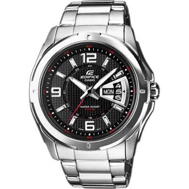 Casio Edifice 45mm Μαύρο/Ασημί Μπρασελέ Casio EF-129D-1AVEF/Ασημί Μπρασελέ Casio EF-129D-1AVEF, ρολόι, ανδρικό ρολόι, Casio, Casio ρολόι, δωρεάν μεταφορικά, άμεση διαθεσιμότητα