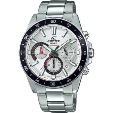 Casio Edifice 43mm Ασημί Μπρασελέ Casio EFV-570D-7AVUEF, Casio EFV-570D-7AVUEF, ρολόι, ανδρικό ρολόι, Casio, Casio ρολόι, δωρεάν μεταφορικά, άμεση διαθεσιμότητα