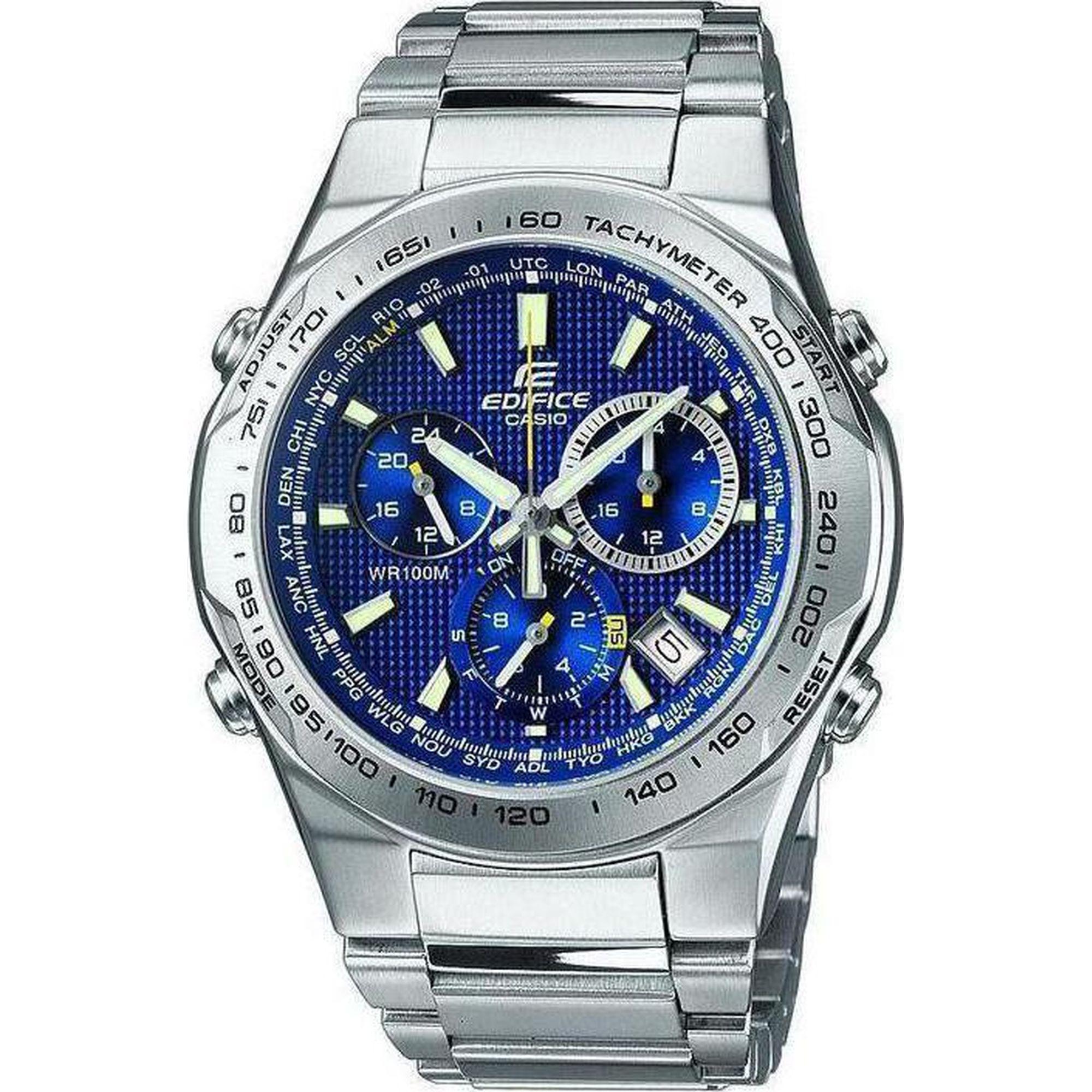 Casio Edifice 50mm Μπλέ/Ασημί Μπρασελέ Casio EF-528D-2AVEF, ρολόι, ανδρικό ρολόι, Casio, Casio ρολόι, δωρεάν μεταφορικά, άμεση διαθεσιμότητα