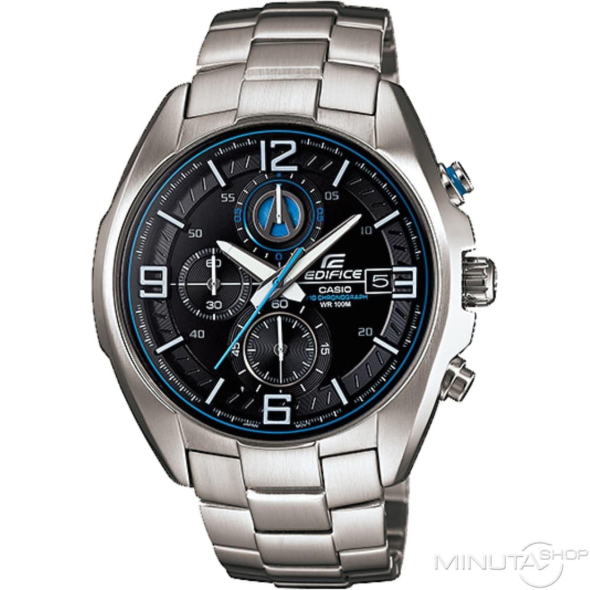Casio Edifice 42mm Μαύρο με Ασημί Μπρασελέ EFR-529D-1A2V, ρολόι, ανδρικό ρολόι, Casio, Casio ρολόι, δωρεάν μεταφορικά, άμεση διαθεσιμότητα