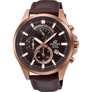 Casio Edifice Χρονογράφος με Καφέ Δερμάτινο Λουράκι EFV-530GL-5AVUEF, ρολόι, ανδρικό ρολόι, Casio, Casio ρολόι, δωρεάν μεταφορικά, άμεση διαθεσιμότητα