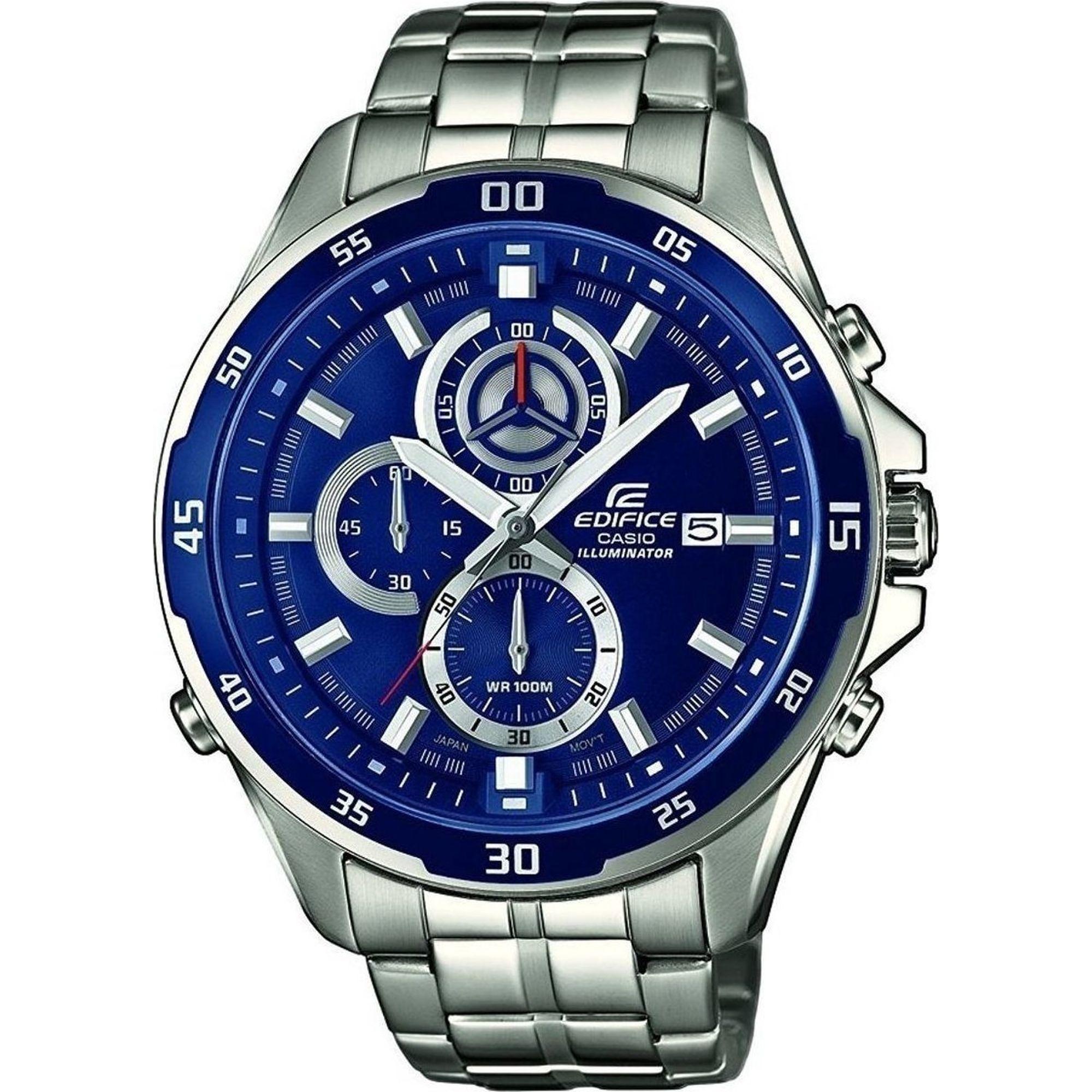 Casio Edifice 47mm Μπλέ/Ασημί Μπρασελέ Casio EFR-547D-2AVUEF, ρολόι, ανδρικό ρολόι, Casio, Casio ρολόι, δωρεάν μεταφορικά, άμεση διαθεσιμότητα