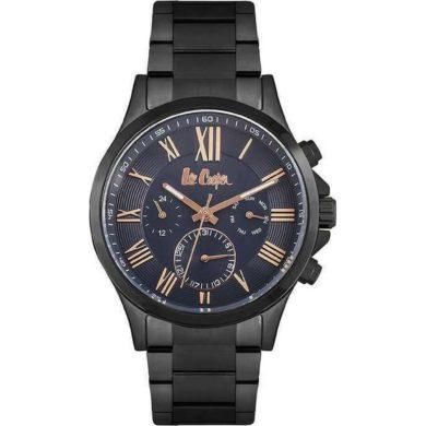 Lee Cooper Ρολόι 45mm Μπλέ Καντράν και Μπασελέ LC06890-090, Lee Cooper, Ρολόι, Ρολόγια, ανδρικό ρολόι, ανδρικά ρολόγια,Μαύρο Μπρασελέ,