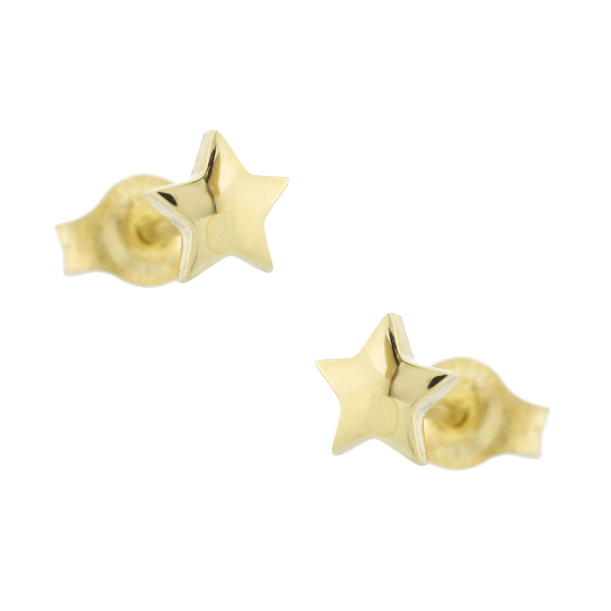 """Χρυσά Σκουλαρίκια με """"Αστέρι"""" 9 Καράτια"""