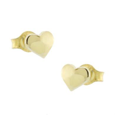"""Χρυσά Σκουλαρίκια με """"Καρδιά"""" 9 Καράτια"""