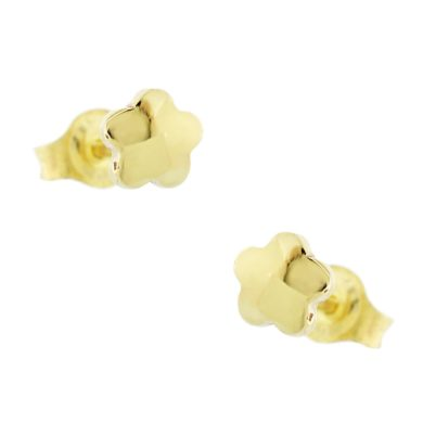 """Χρυσά Σκουλαρίκια με """"Λουλούδι"""" 9 Καράτια"""