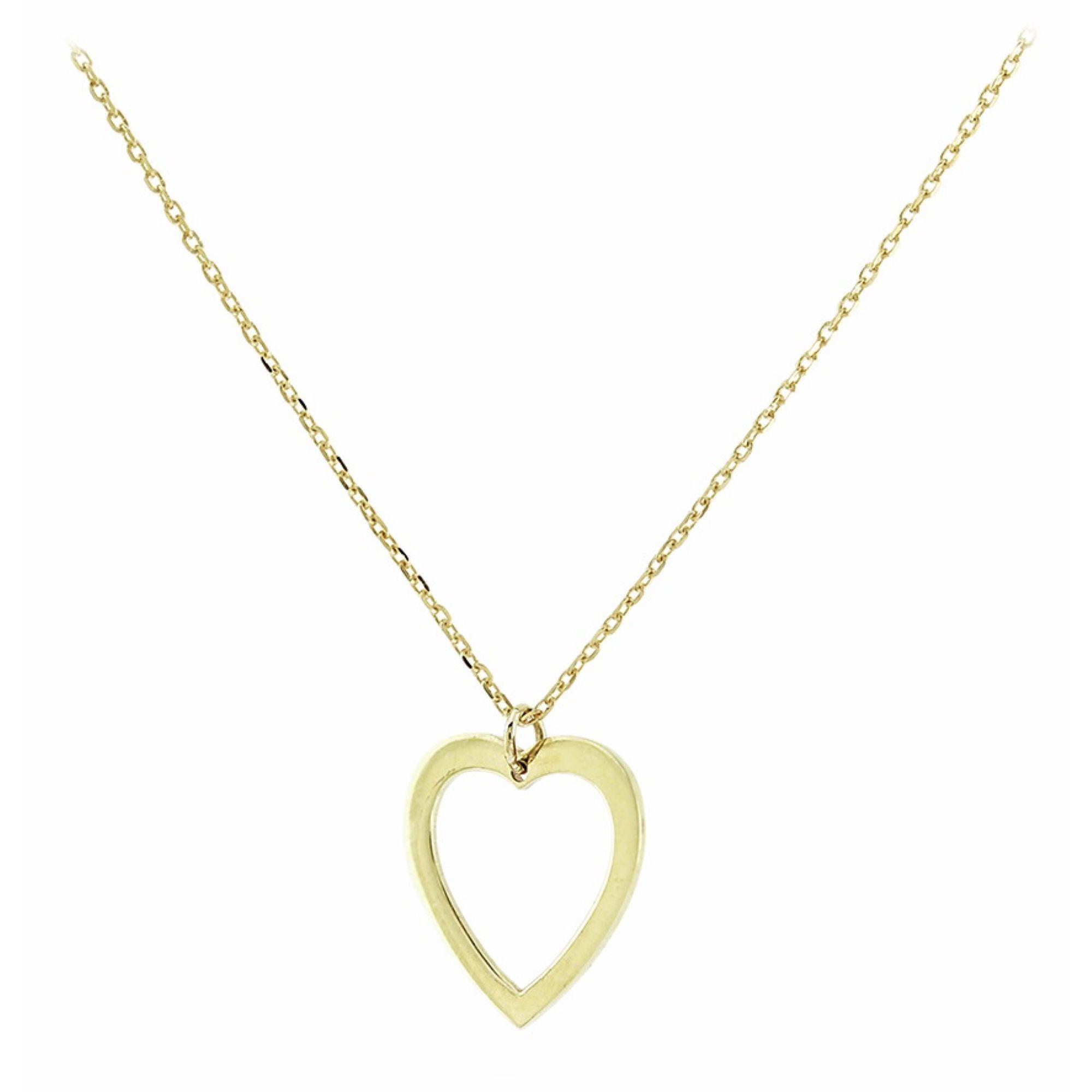Χρυσό Κολιέ με Καρδιά 9 Καράτια